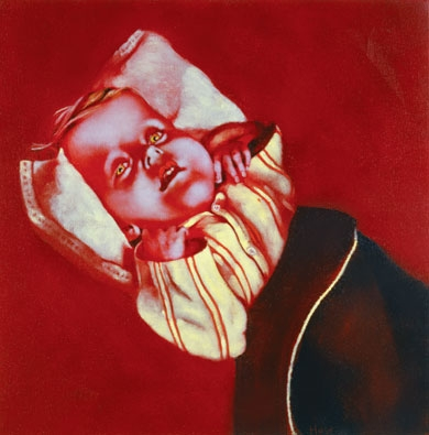 Sick Baby Doll, oil painting on canvas, 20 x 20, Holst
