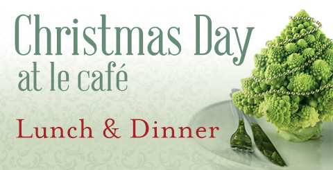 le cafe - christmas menu promo