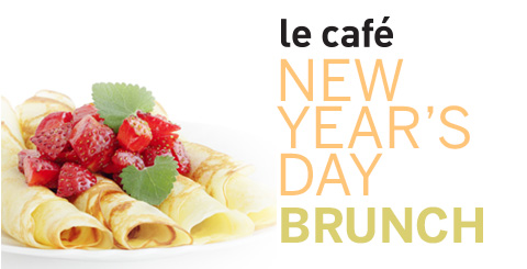 le cafe - new years brunch promo