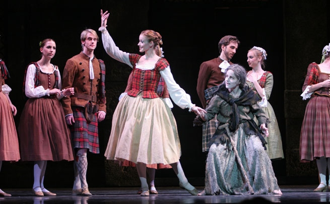 Stephanie Hutchison with artists of the National Ballet of Canada in <em>La Sylphide</em>