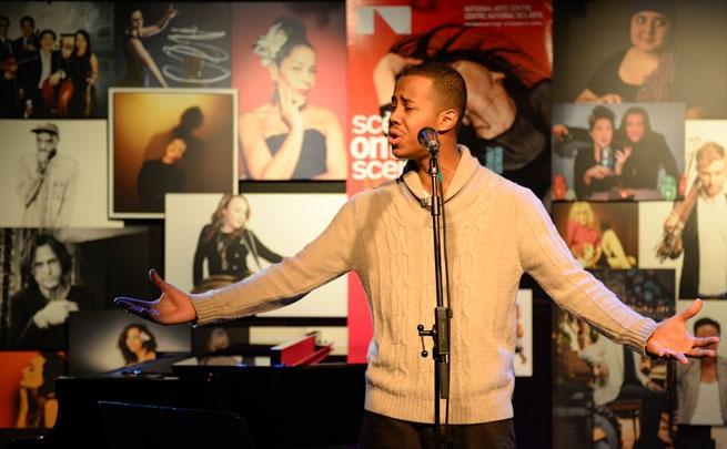 Mustafa The Poet performing at the Ontario Scene launch