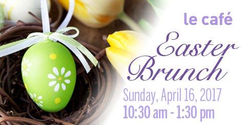 le cafe Easter Brunch promo