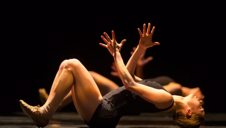 Hubbard Street Dancer Emilie Leriche in <i>Falling Angels</i> by Jiří Kylián.{/exp:low_replace} | Todd Rosenberg