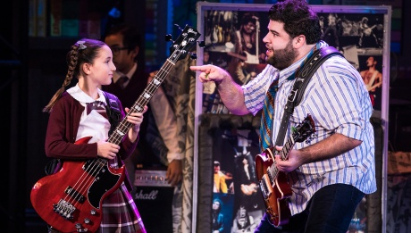 Theodora Silverman and Rob Colletti in the School of Rock Tour.  © Matthew Murphy