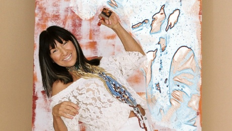 Buffy Sainte-Marie. ARTISTIC TREATMENT: HEATHER CAMPBELL. | DENISE GRANT