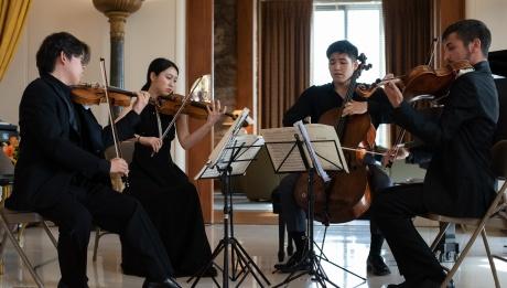 Quatuor du PJA 2018 dans la résidence de l'Ambassadrice de la France | Kara Taylor