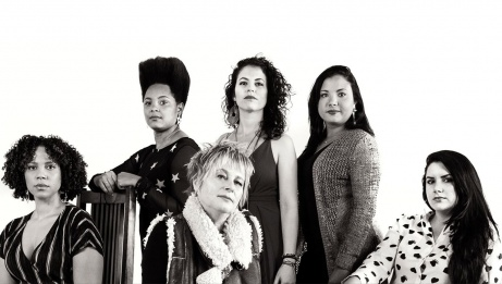Jane Bunnett and Maqueque - Yissy Garcia, Jane Bunnett, Tailin Marrero, Dánae Olano and Mary Paz.