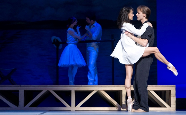Sonia Rodriguez and Zdenek Konvalina in The Seagull